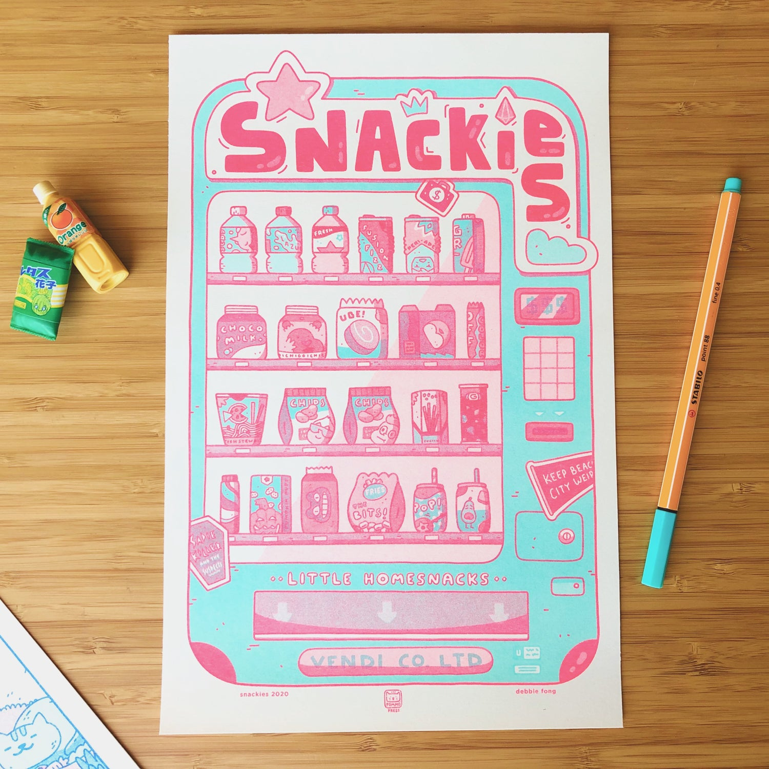 Image of SNACKIES RISO PRINT