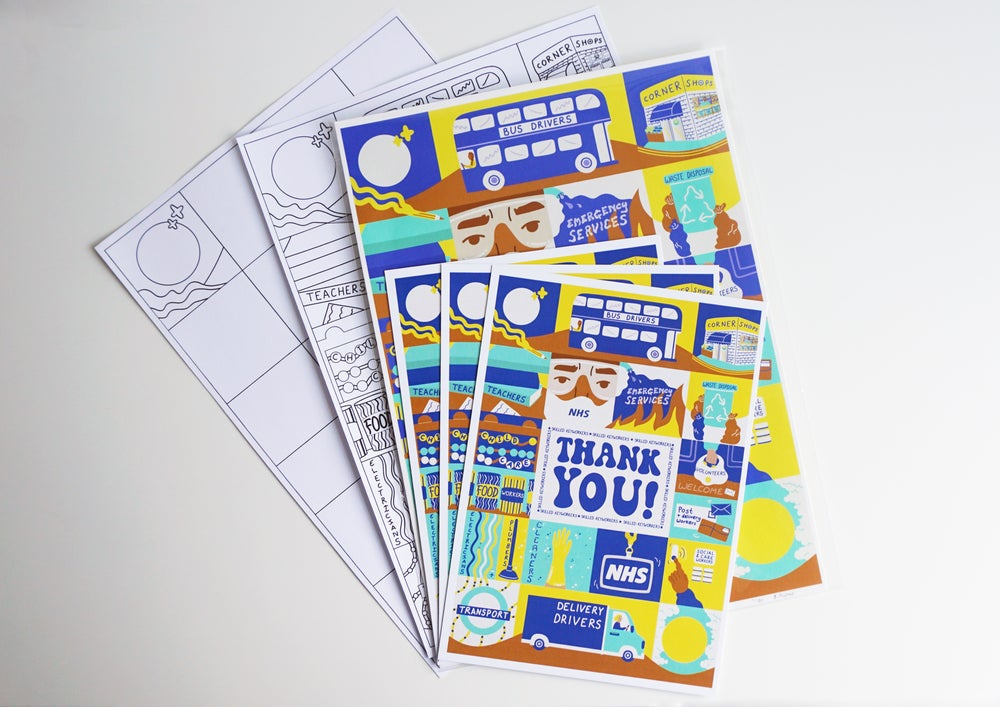 Image of ART PACK: ART PRINT, 3 POSTCARDS, COLOURING IN & ACTIVITY SHEETS