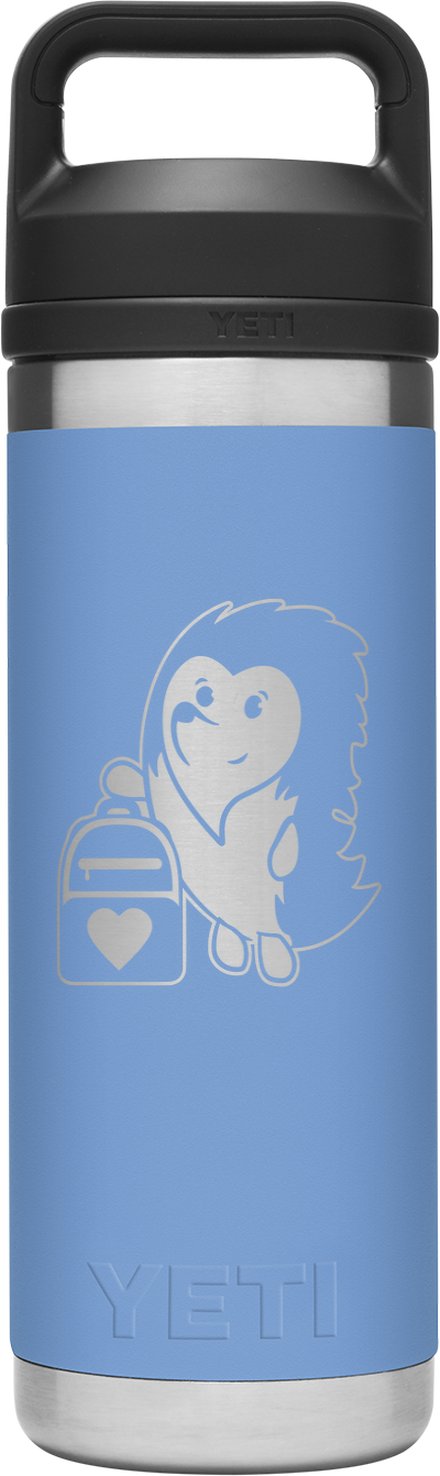 Image of Carrying Hope - 18 oz. Yeti Rambler Chug Water Bottle