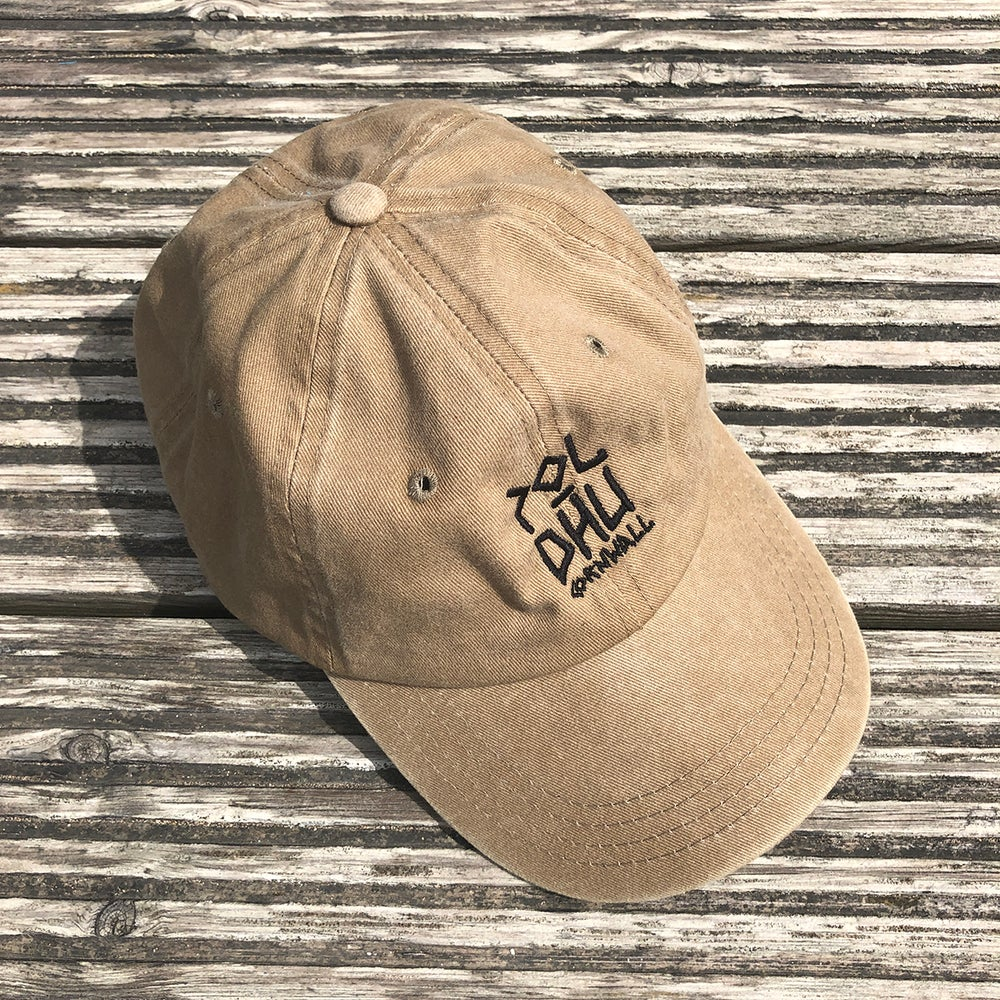 WASHED COTTON CAP - SAND
