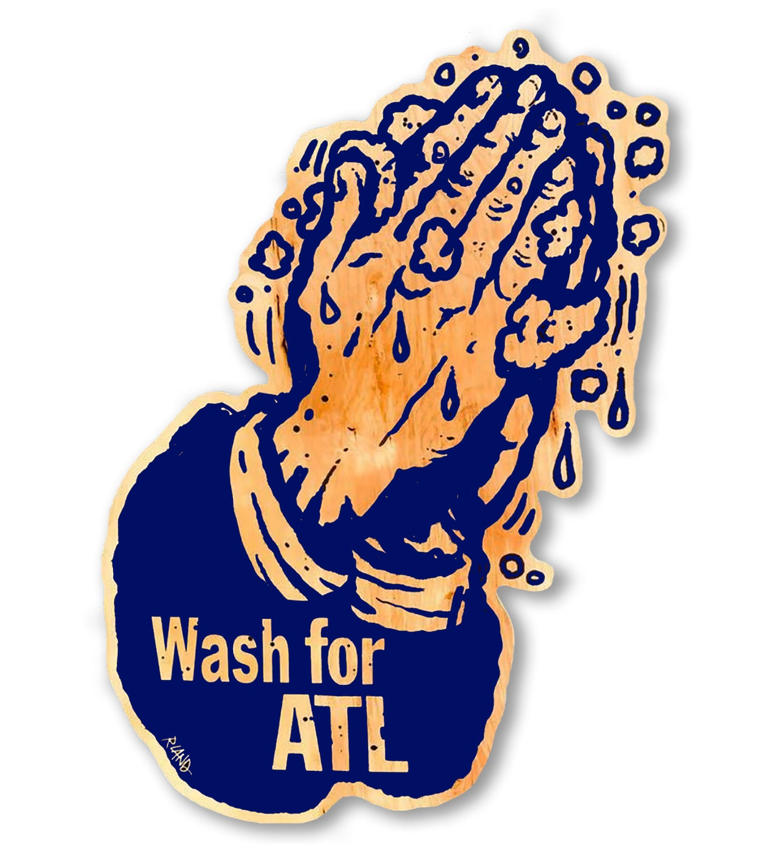 Image of Large Wash for ATL print on wood!