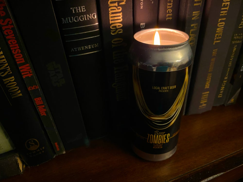 Beer Zombies - Beer Can Candle