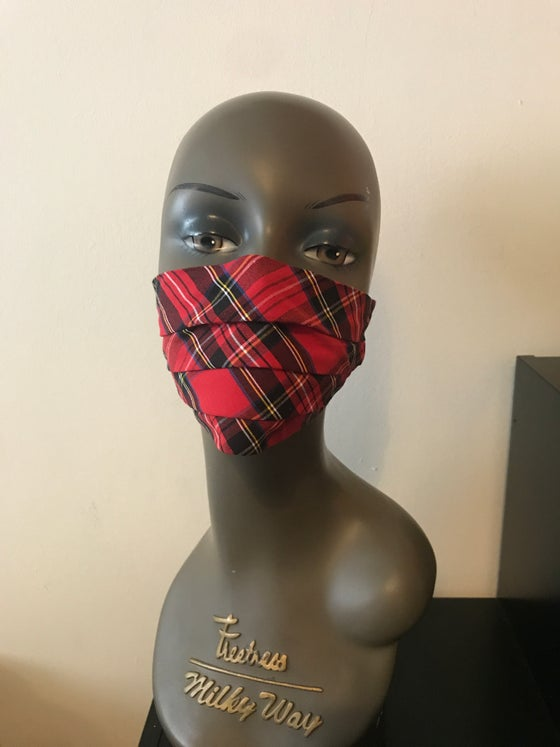 Image of Tartan face mask (3 colours)