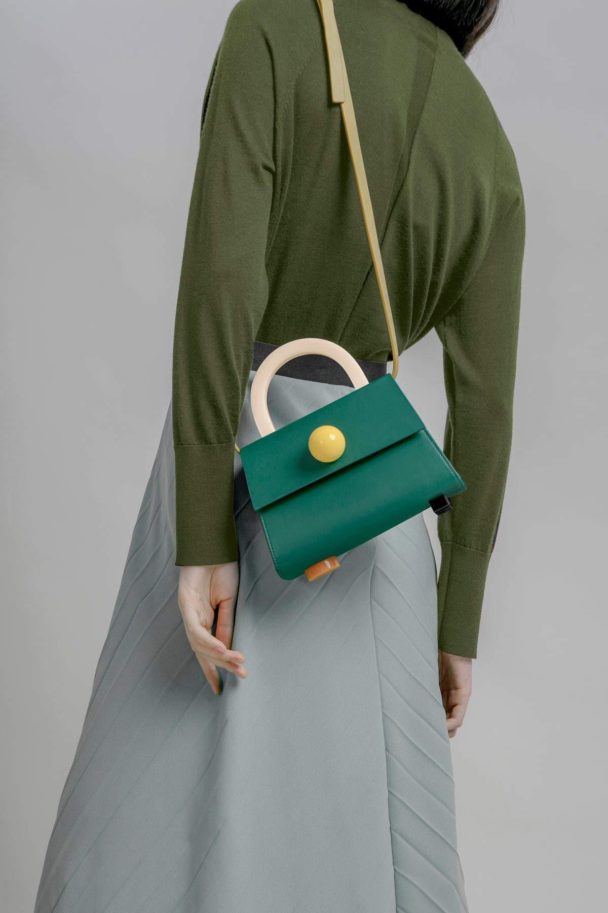 Image of Diva satchel bag • Dark Green with strap - Limited quantities