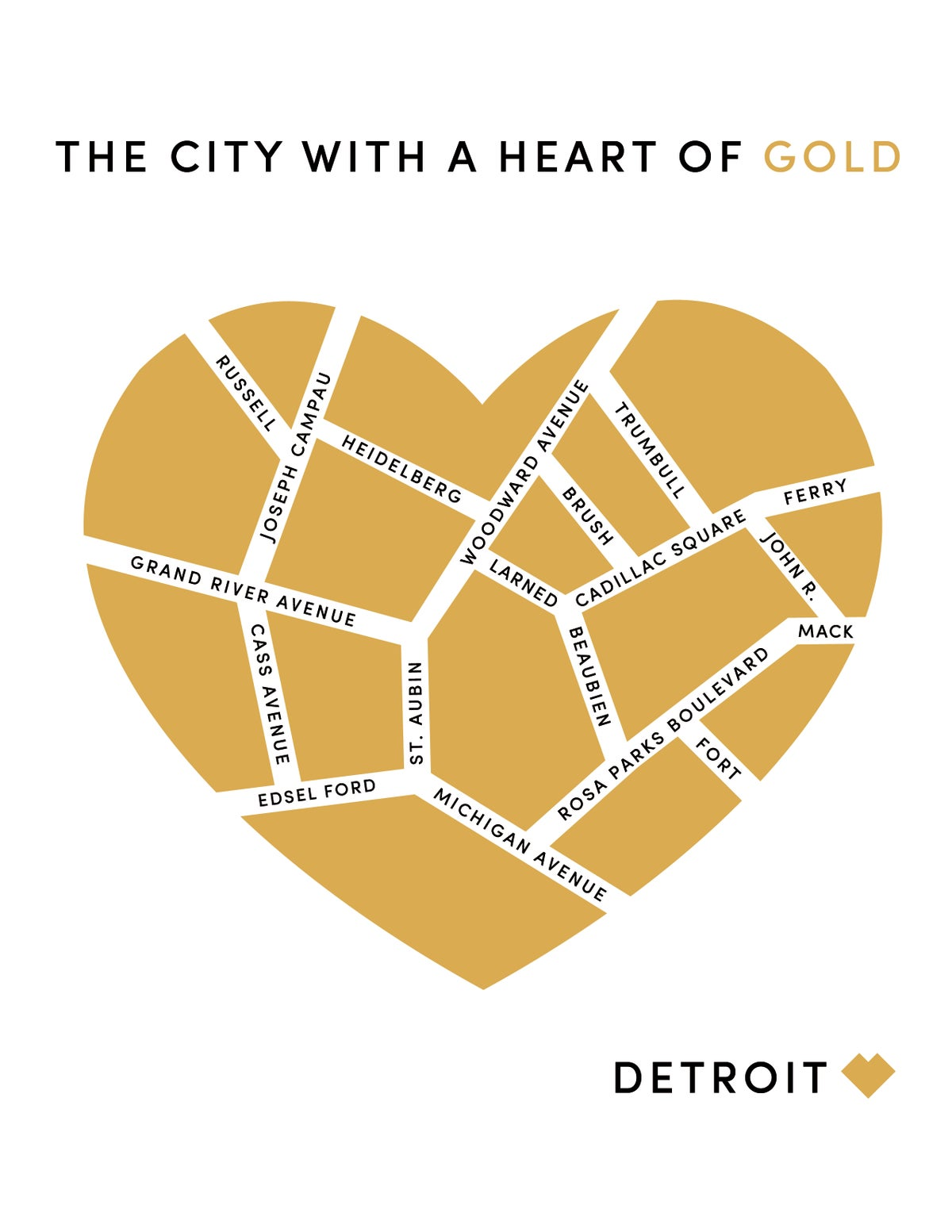 Detroit. The City With a Heart of Gold Print