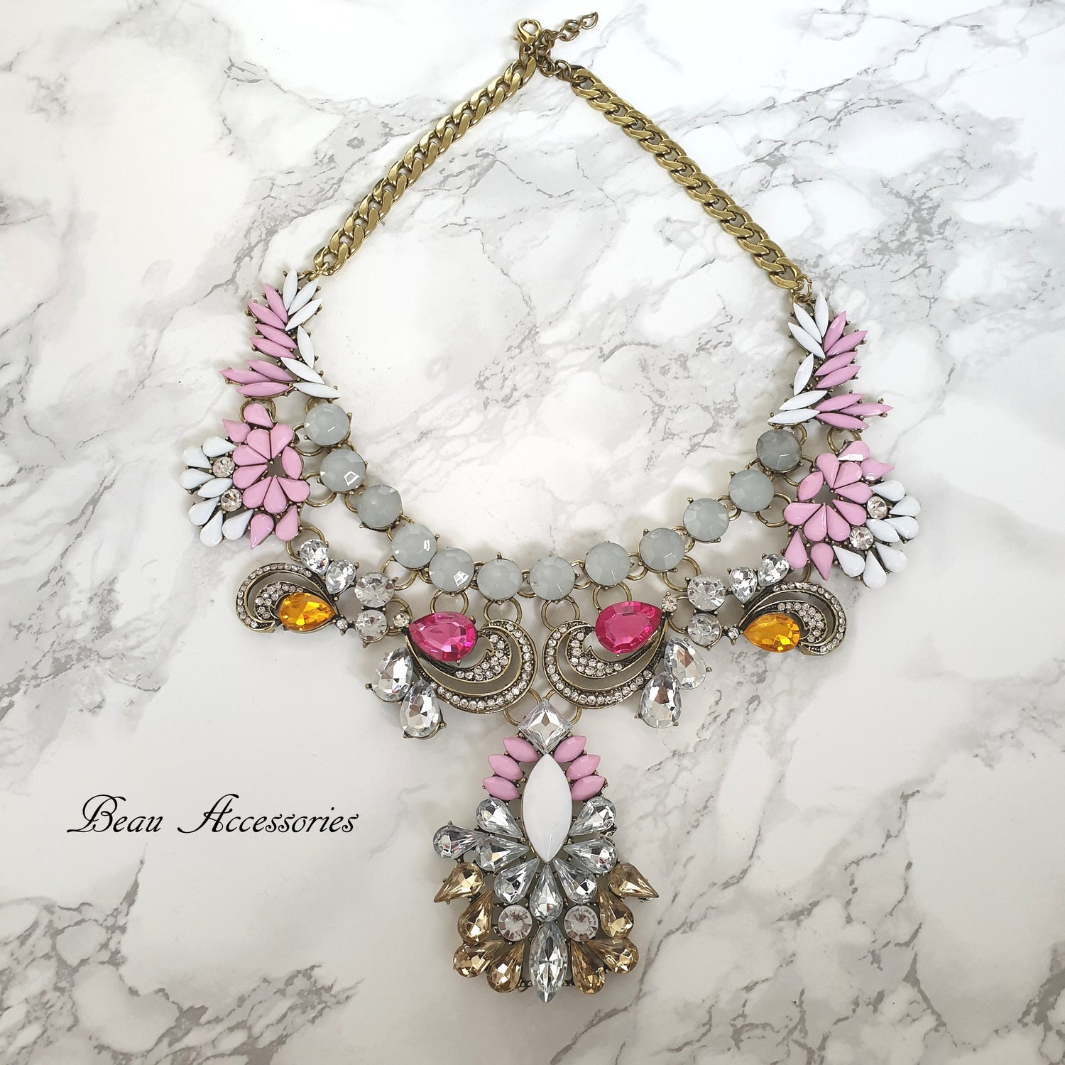 Image of Pink Statement Necklace