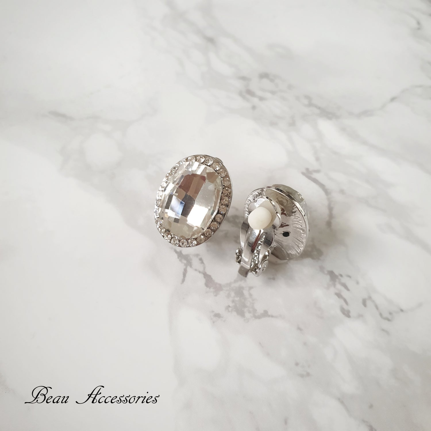 Image of Silver Clip On Studs