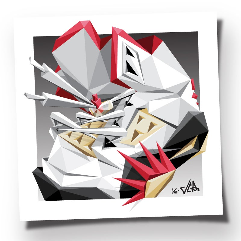 """Image of JCRo - ISSA FIVE! - 20"""" limited edtion print (og fire red)"""
