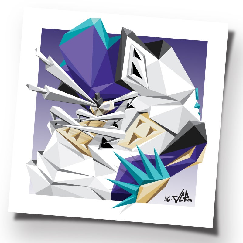 """Image of JCRo - ISSA FIVE! - 20"""" limited edtion print (og GRAPE)"""