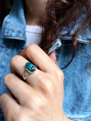 Image of Bague Azurite - taille 53 - ref. 4552
