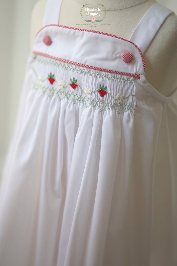 Image of Hand Smocked Strawberry Sun Dress