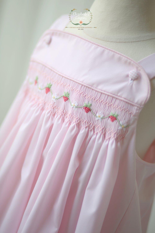 Image of Hand Smocked Strawberry Sun Dress