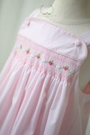 Image 3 of Hand Smocked Strawberry Sun Dress