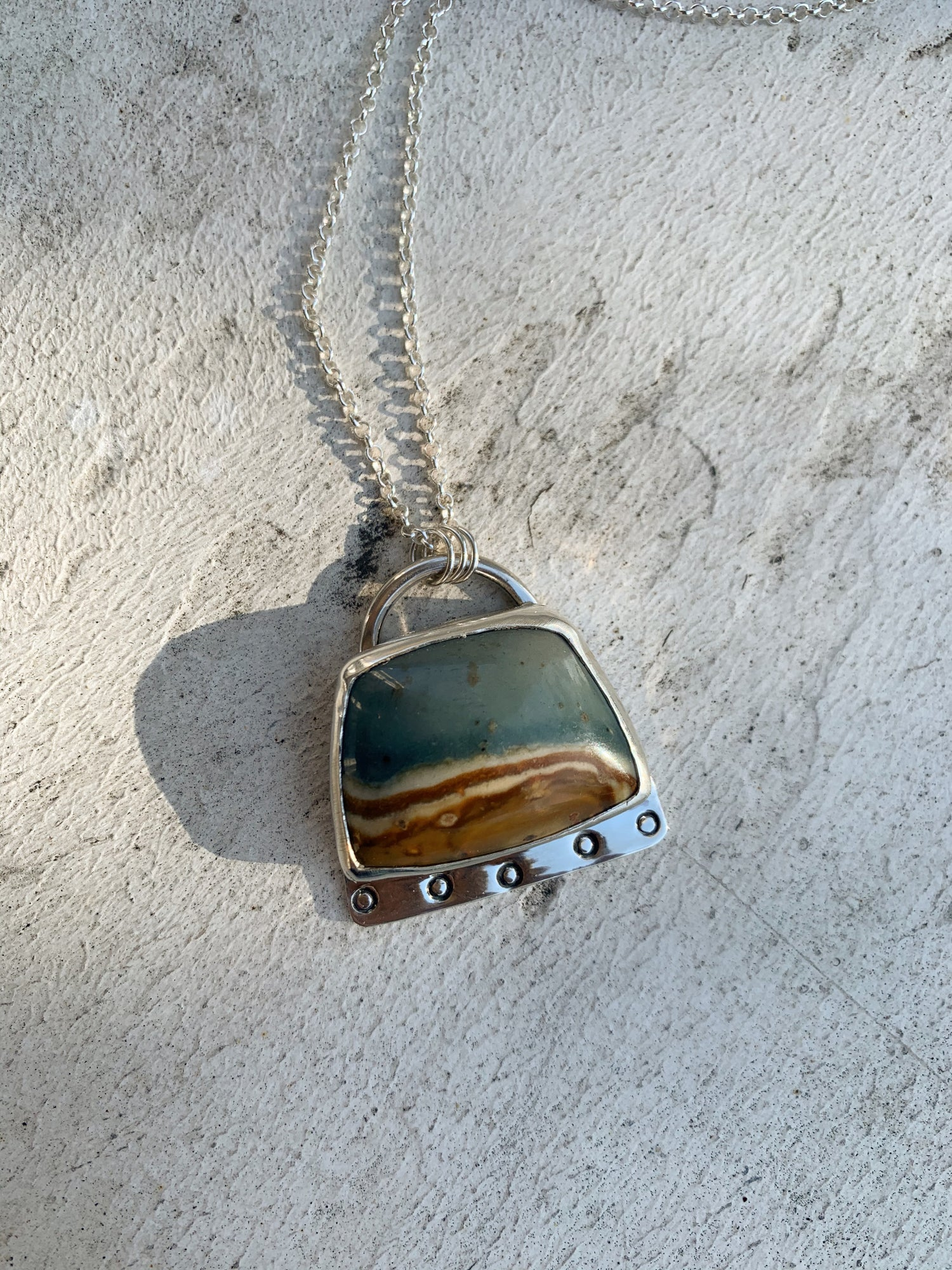 Image of Picture Jasper Necklace