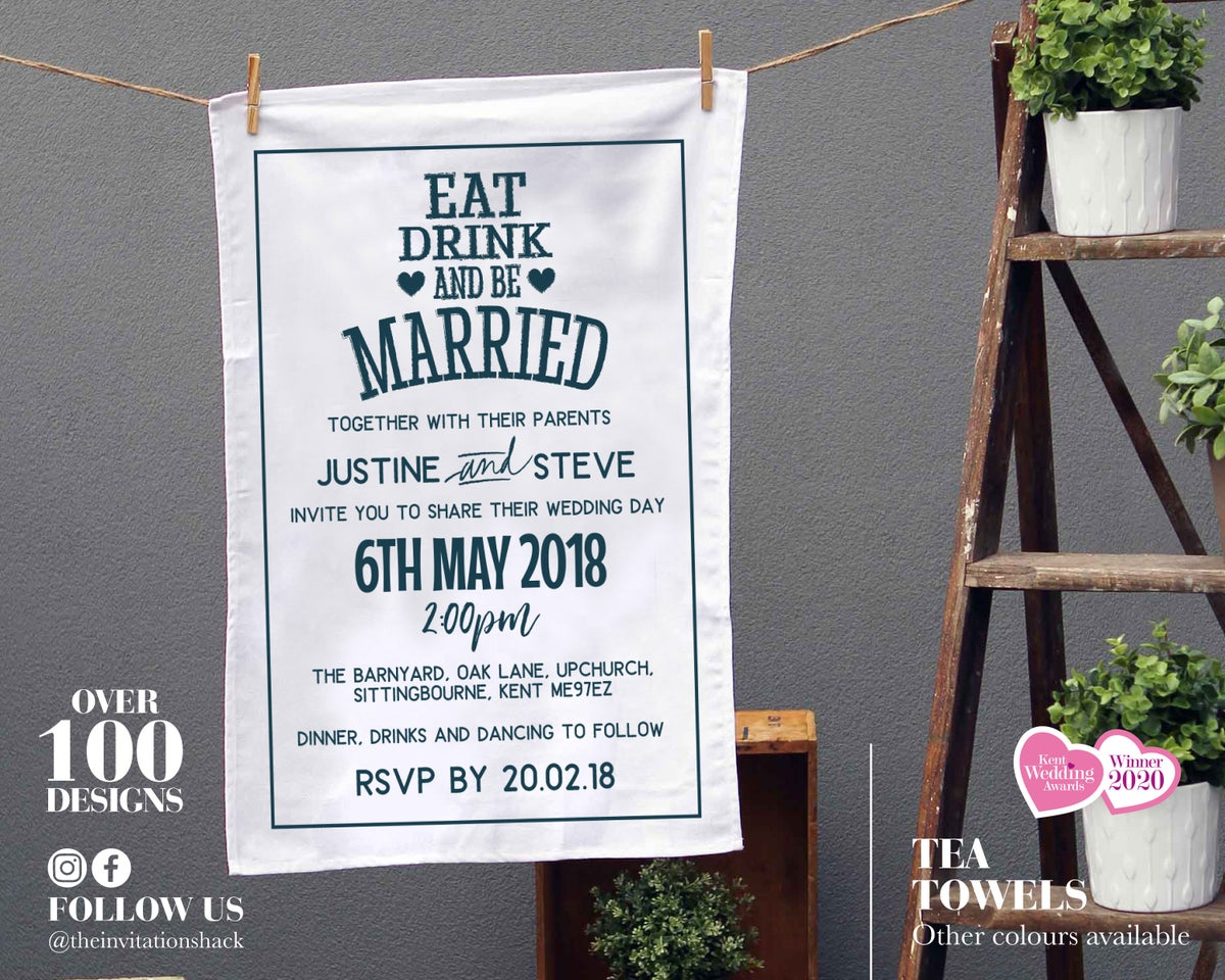 Tea Towel Invites