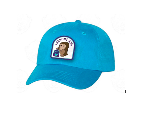 Image of Hope the Hedgehog Hand-Stitched Baseball Cap