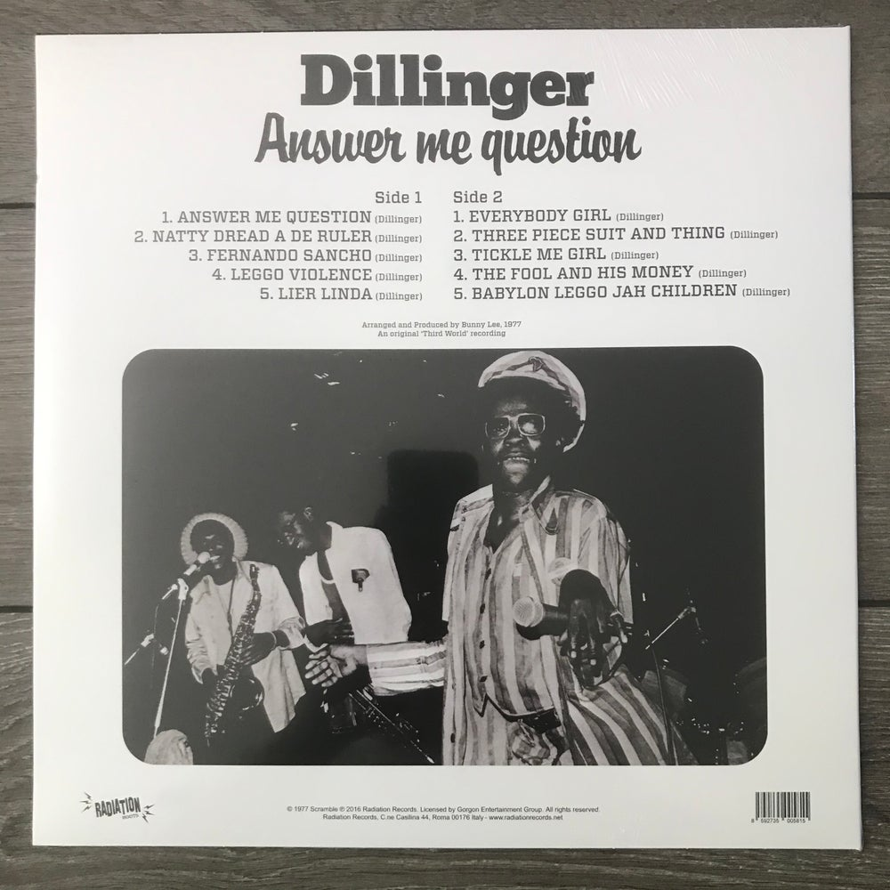 Image of Dillinger - Answer Me Question Vinyl LP