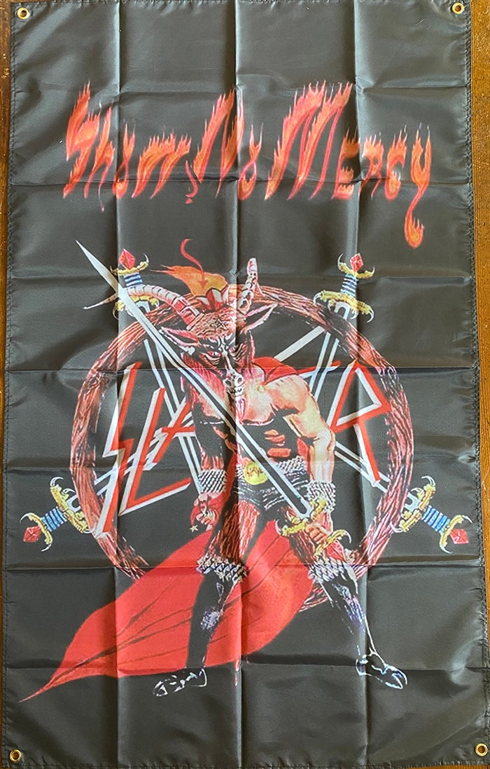 "Image of Slayer "" Goat / Show No Mercy "" Banner /  Flag / Tapestry"