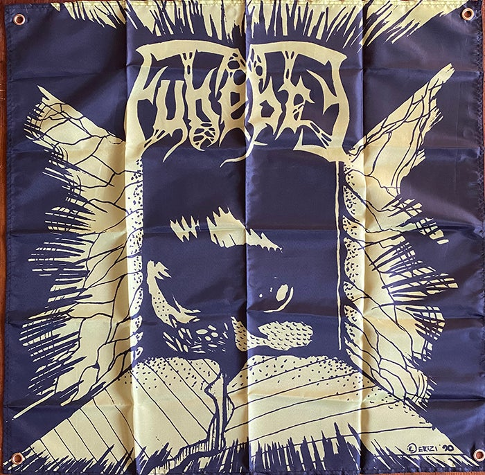 Image of Funebre - Brainspoon -  Flag / Banner / Tapestry