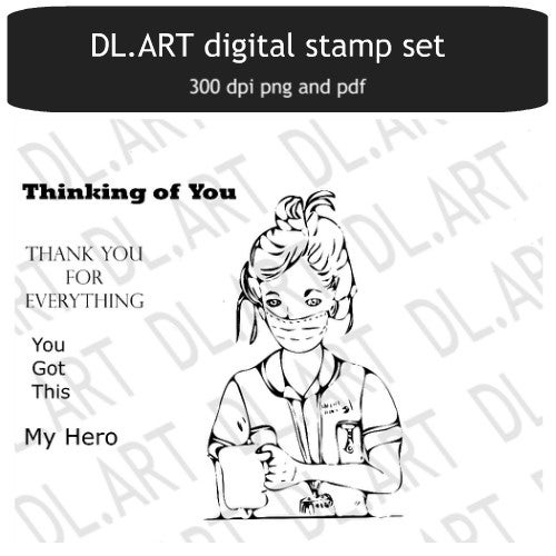 Image of Hero Nurse Digital stamp