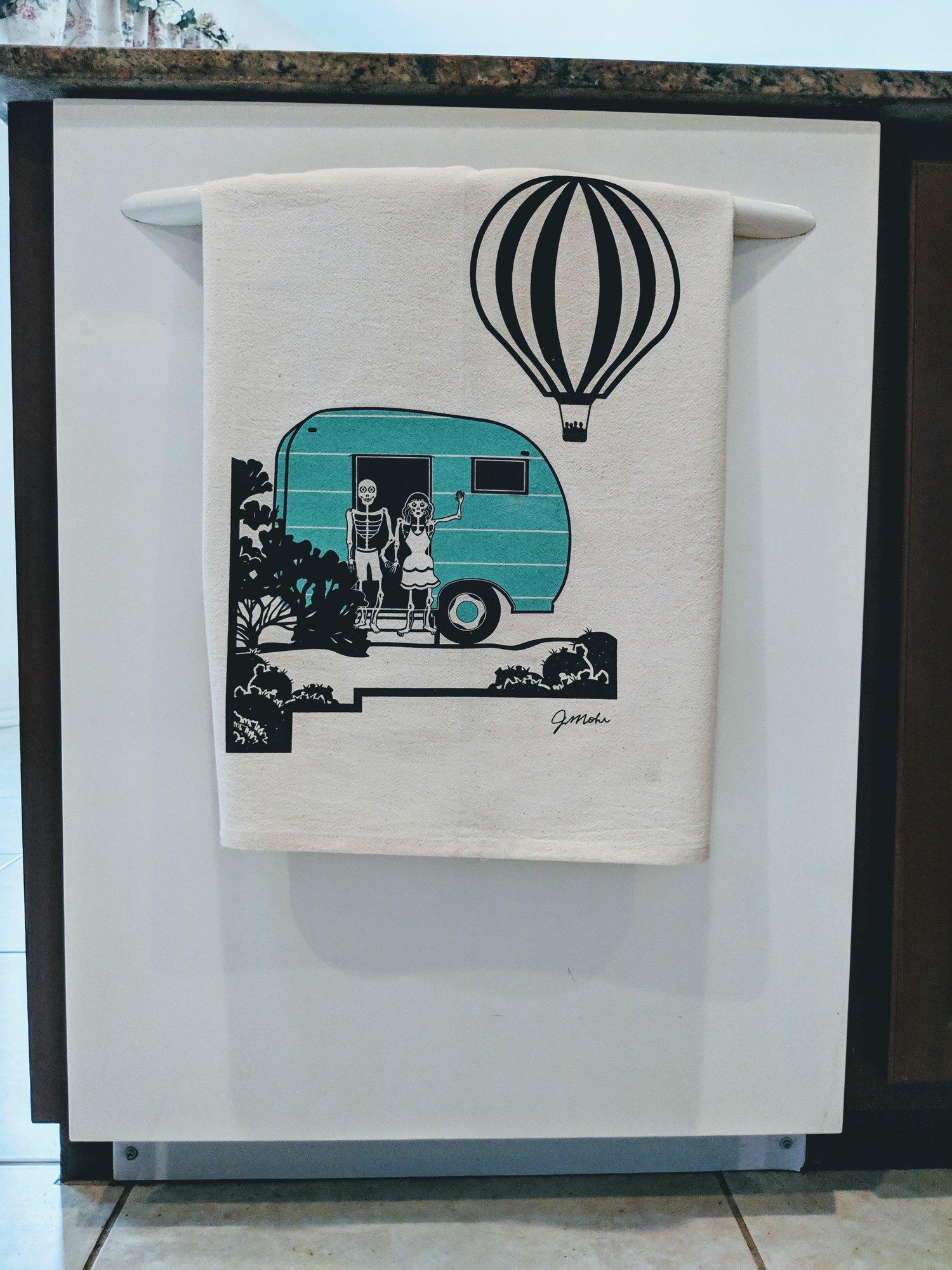 "Image of ""Muertos Balloon Dishtowel"