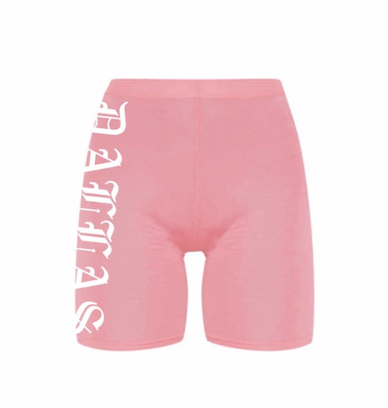 Image of DALLAS LIGHT PINK BIKE SHORTS