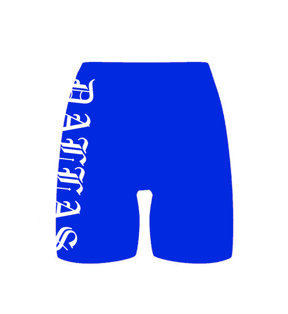 Image of DALLAS ROYAL BLUE BIKE SHORTS