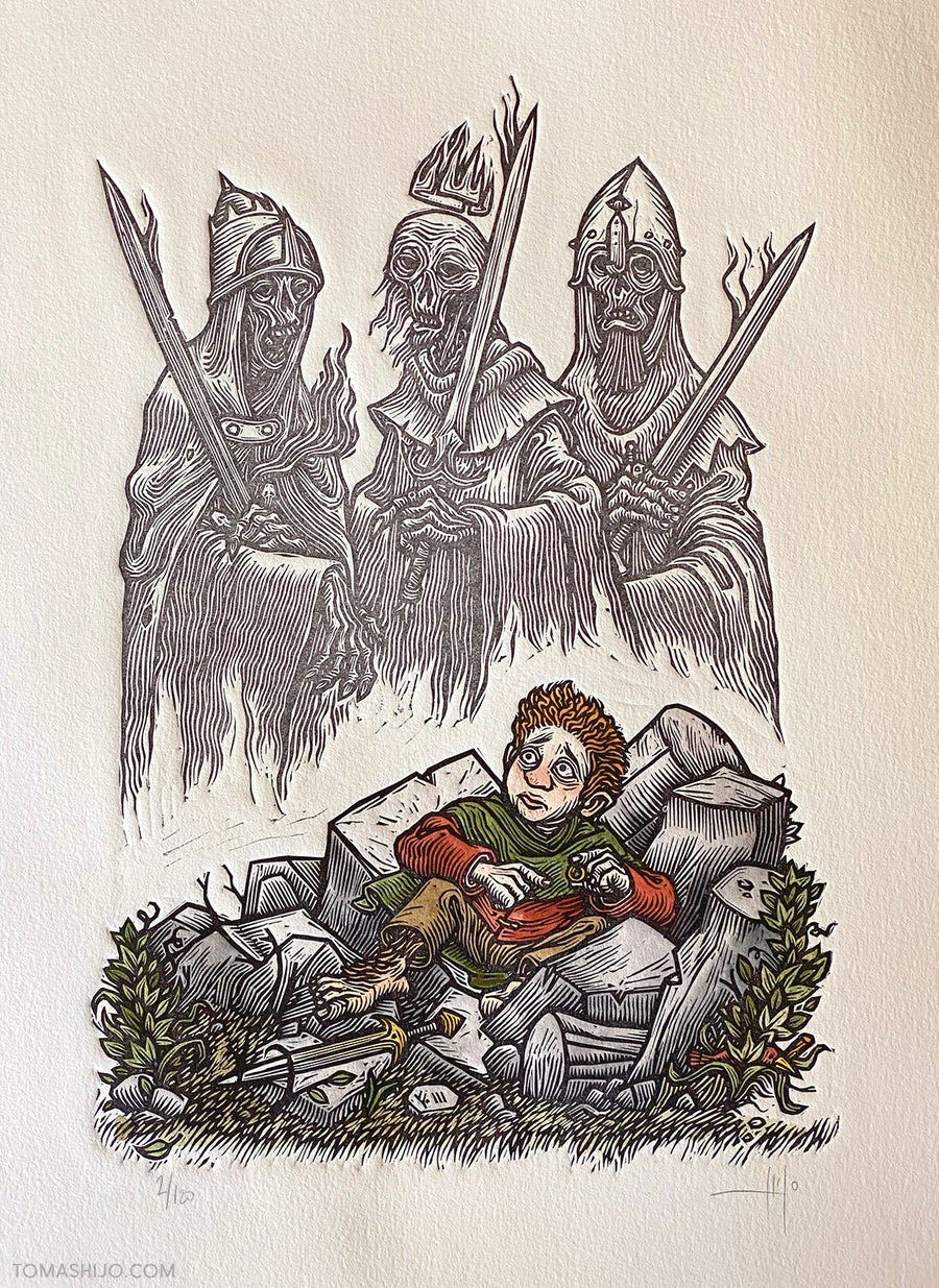 Image of Frodo at Weathertop