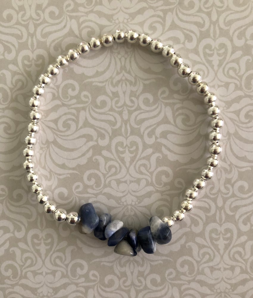 Image of Semi precious cluster bracelet - 5 stones to pick from