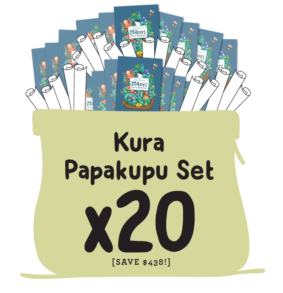 LARGE Kura Papakupu Set (20 Dictionaries & 2 Full Poster Sets)