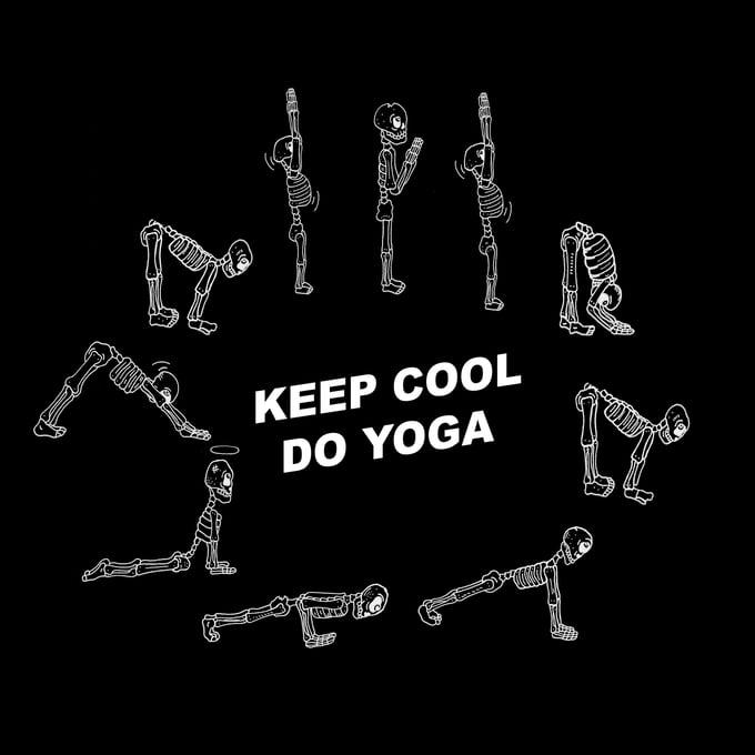 """Image of """"Keep Cool, Do Yoga"""""""