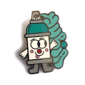 Image of T-up spray can pin