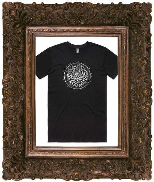 Image of Fear Is The Virus Spiral Tee - Black