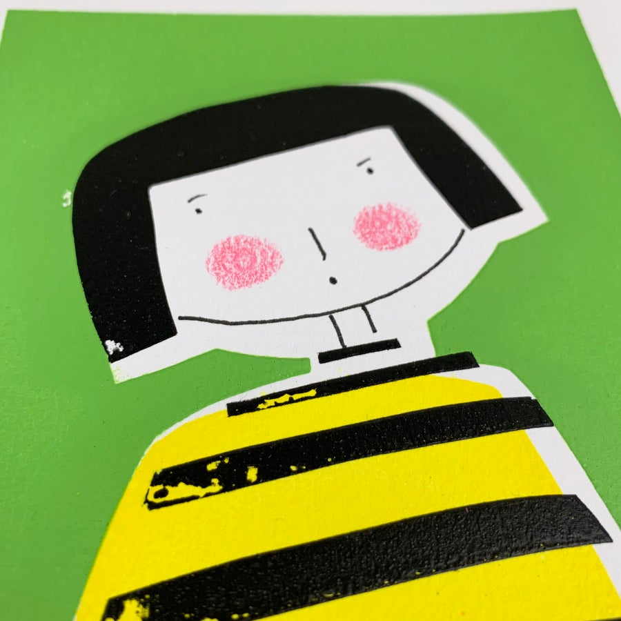 Image of Miss Bumble - A5 Limited edition Screen Print