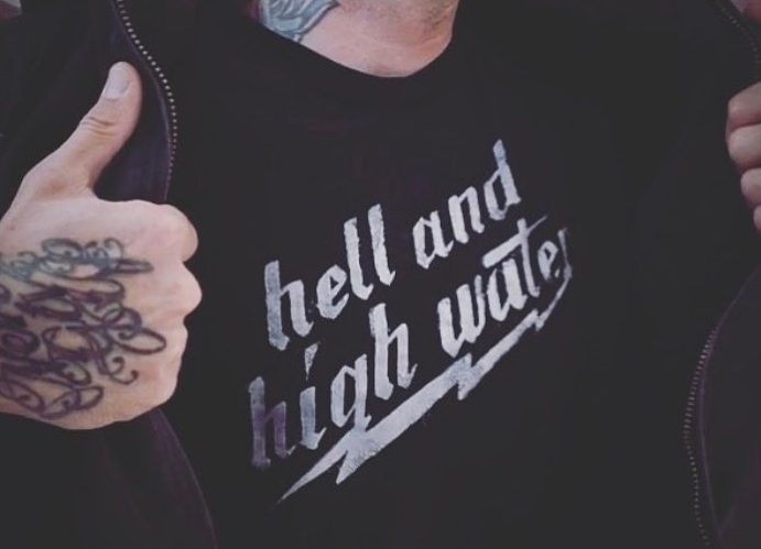 Image of Men's Hell and High Water Logo Tee