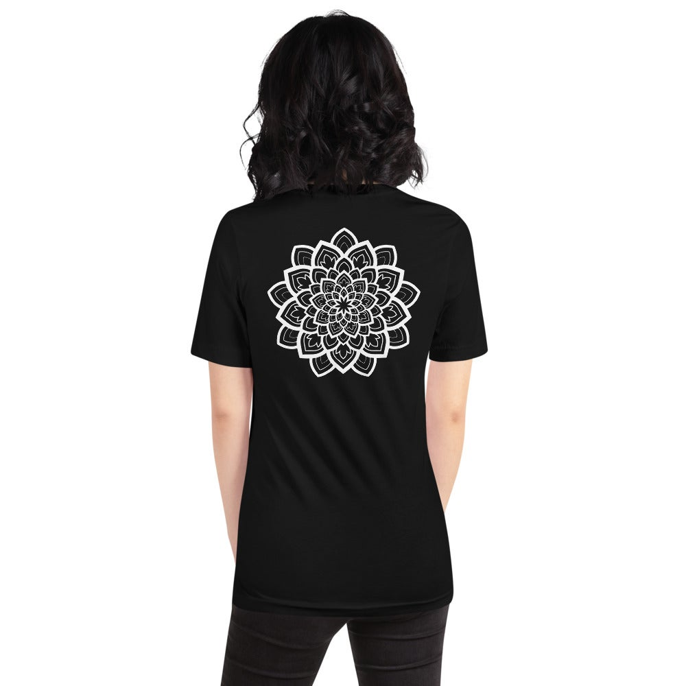 Front and back white mandala Unisex T-Shirt
