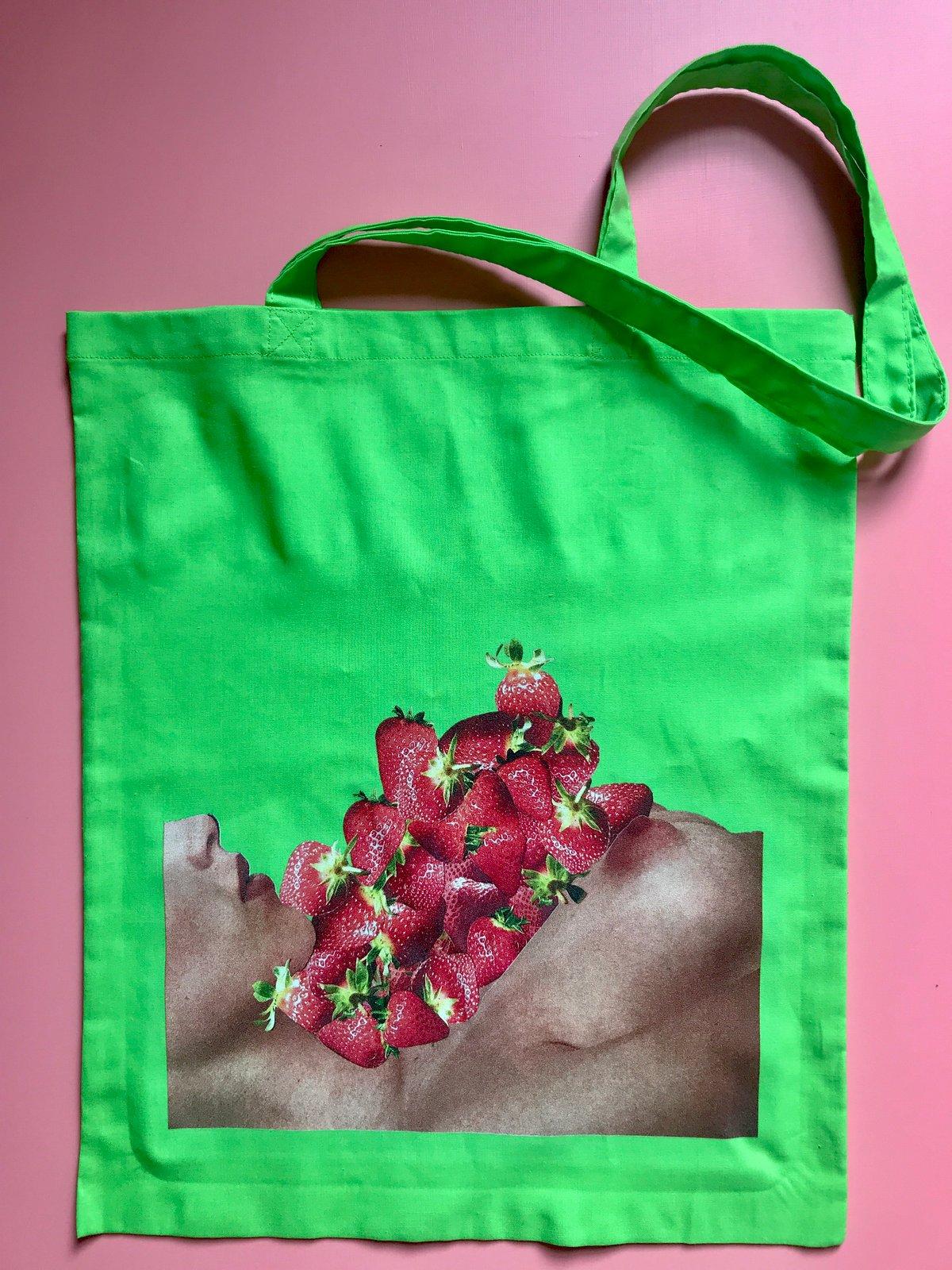 Strawboobies Tote Bag