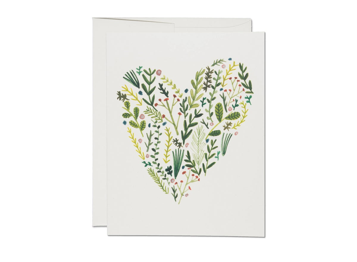 Image of Floral Heart Card