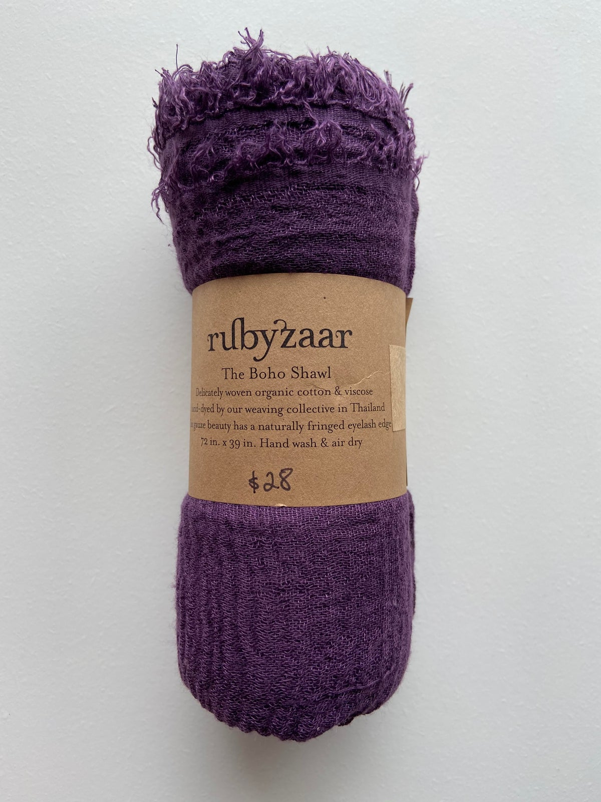 Image of Rubyzaar Boho Organic Cotton Blend Scarf - warm tones