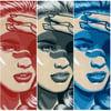 She Shady - Red, Gray, & Blue - Original Artwork