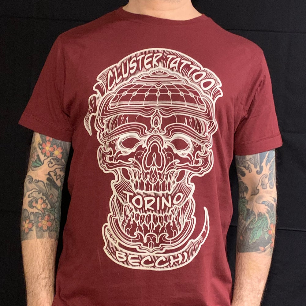 Image of New Cluster T-shirt BURGUNDY