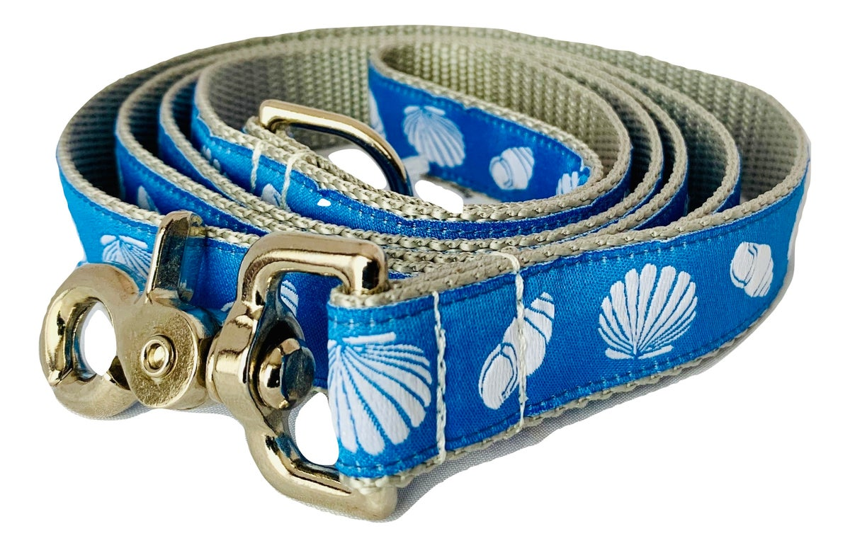 Beach Shell blue - Dog Leash
