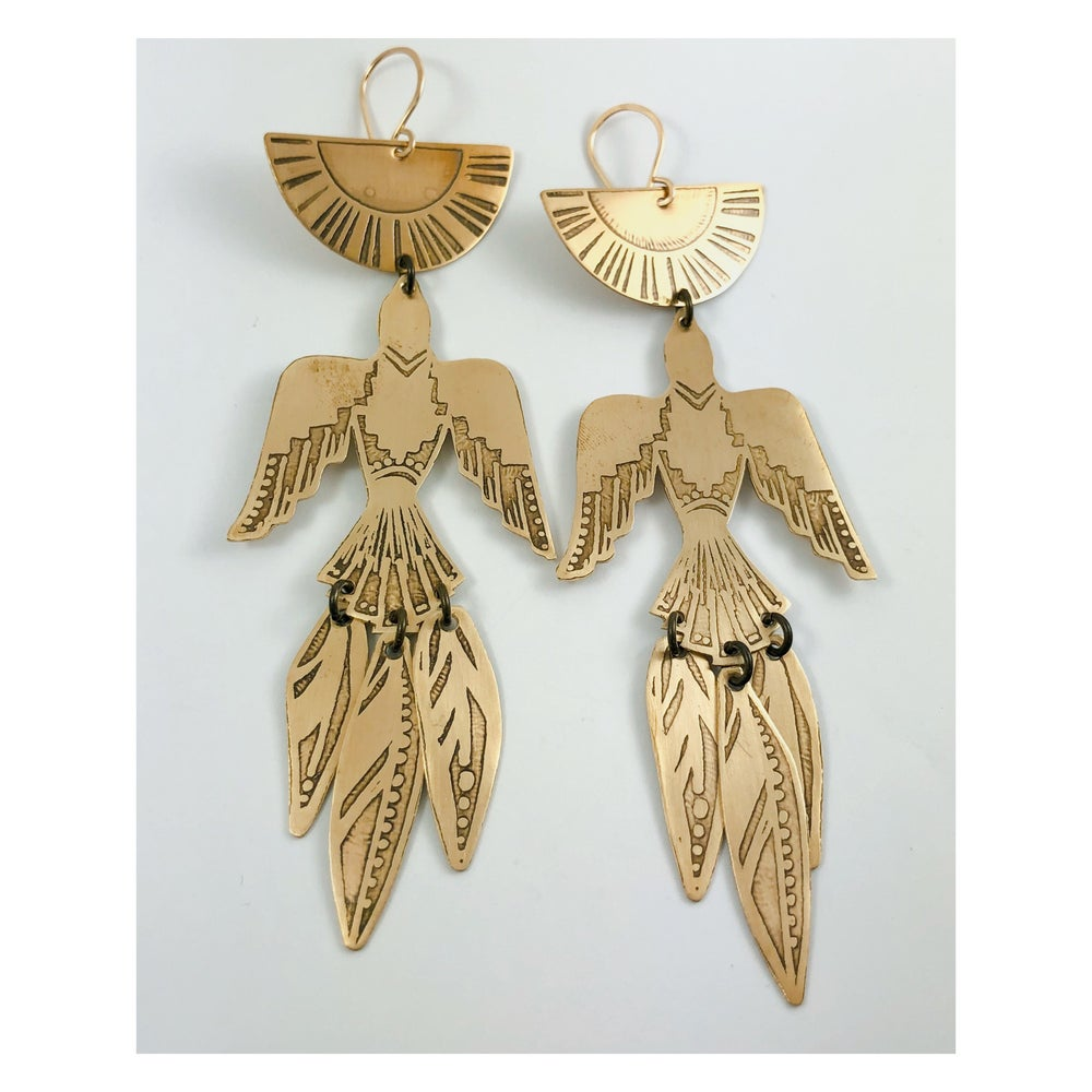Image of Reserved : Rise to the Sun Earrings