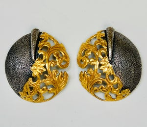 Image of two tone with gold openwork