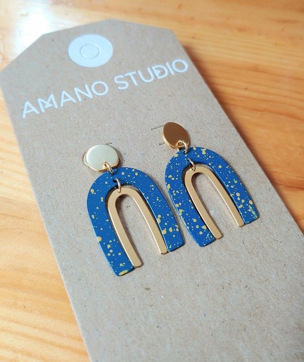 Image of Arches Starry Night Stud Earrings