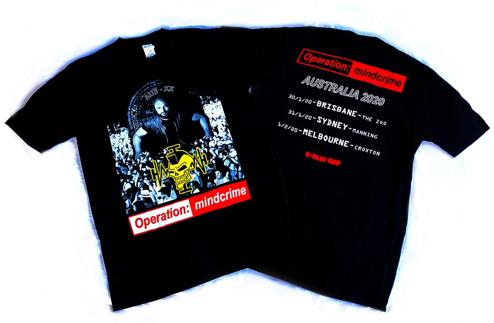 Image of GEOFF TATE - Operation Mindcrime - Aussie Tour Shirt