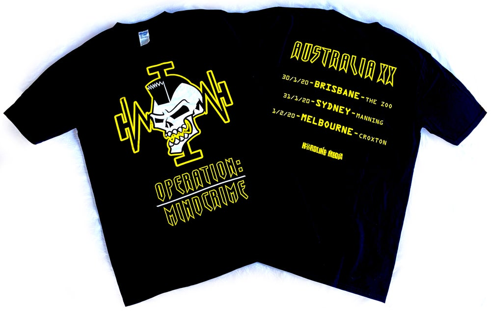 Image of GEOFF TATE - Operation Mindcrime/Yellow Skull - Aussie Tour Shirt