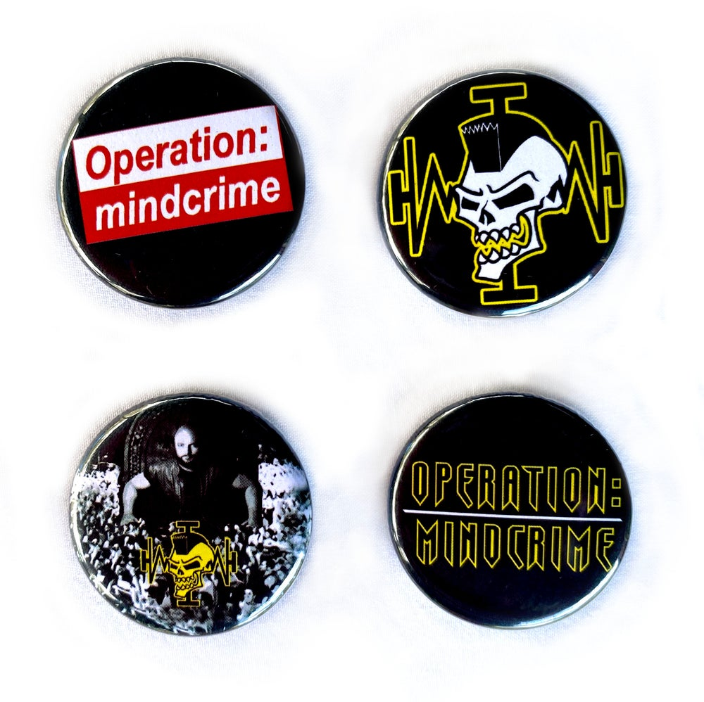 Image of GEOFF TATE - Operation Mindcrime - Set of 4 Badges/Buttons Aussie Tour