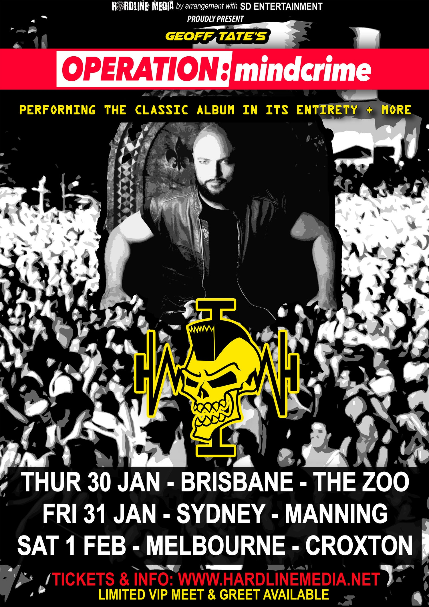 Image of POSTER (Unsigned) - Geoff Tate 'Operation Mindcrime' Australian Tour Poster 2020 - A3