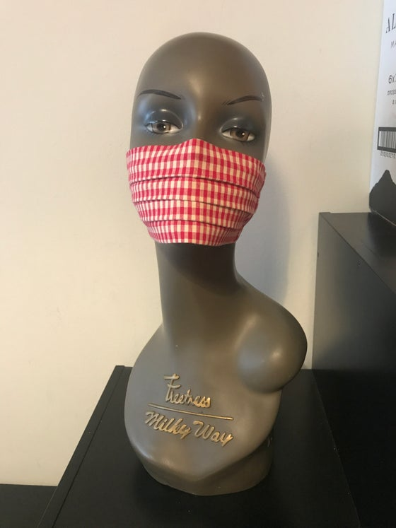 Image of Gingham face mask (2 colours)